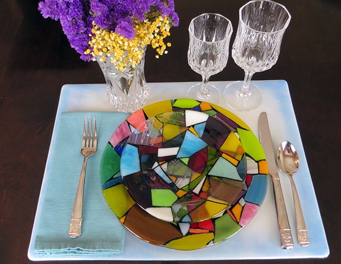 Fused Glass Dinnerware