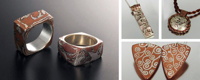 Metal Clay Mokume-gane
