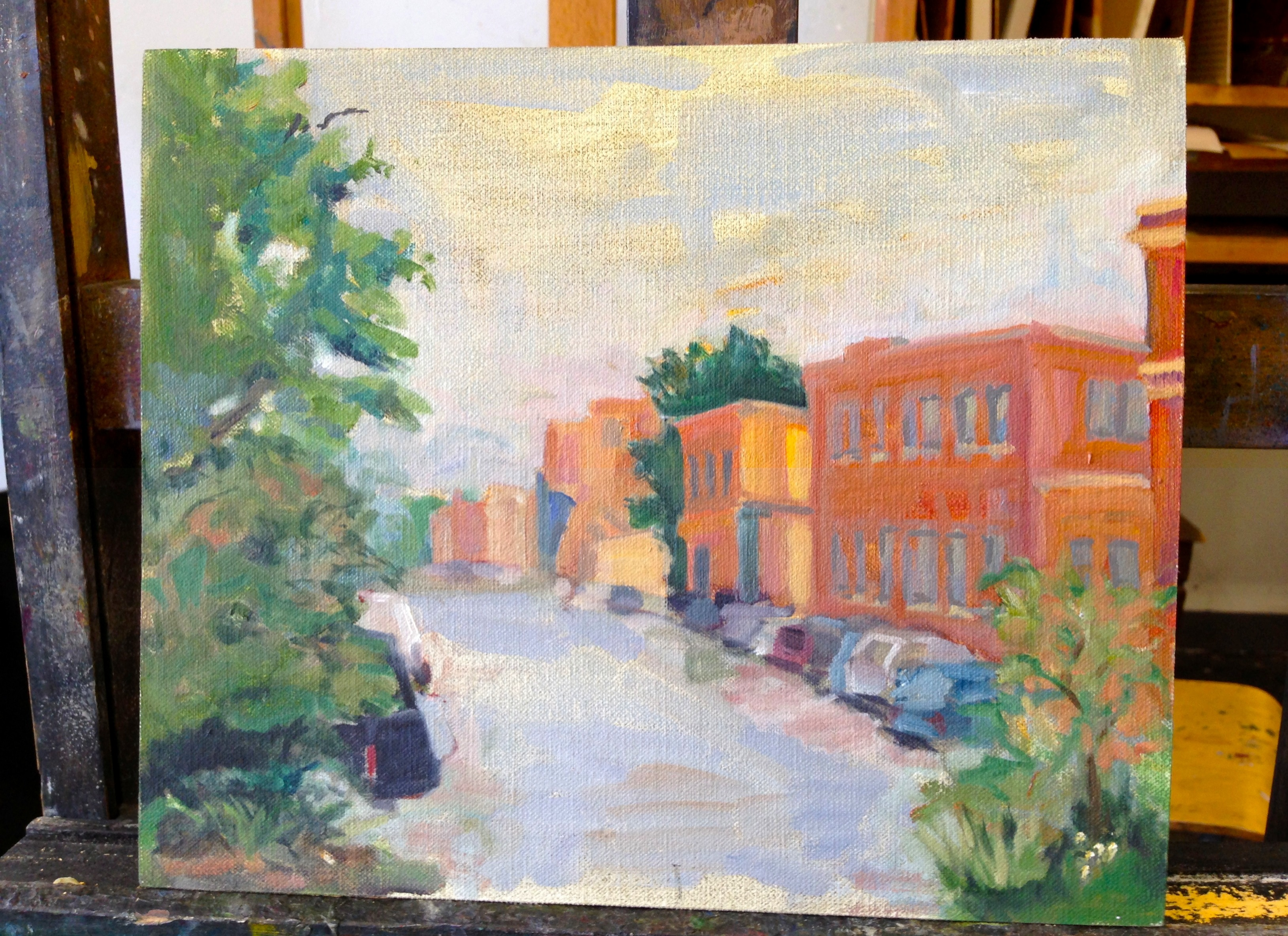 Exploring chicago en plein air for Painting class chicago