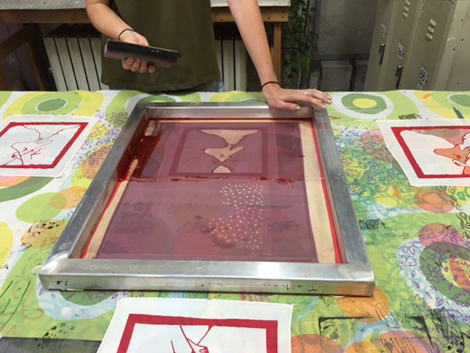 First-Time Screen Printing on Fabric